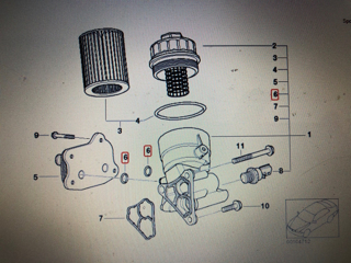 Picture of MINI 11427509261 - O Ring Oil Cooler to Filter Housing - R53