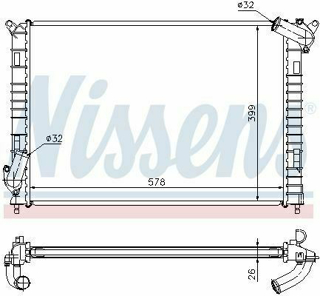 Picture of Nissens 69701A Radiator R53